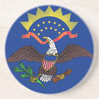 North Dakota State Flag Beverage Coaster