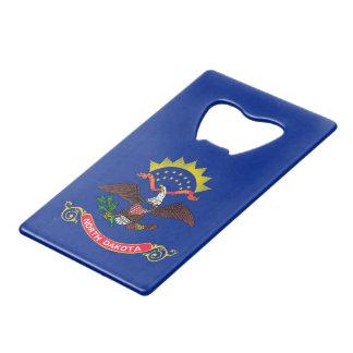 North Dakota State Flag Design Credit Card Bottle Opener