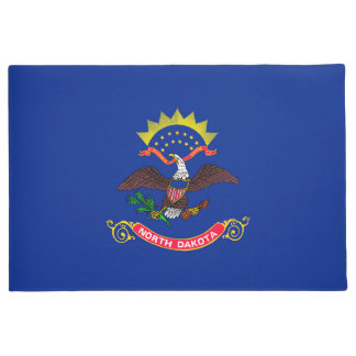North Dakota State Flag Design Doormat
