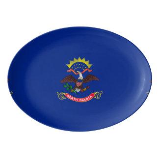 North Dakota State Flag Design Porcelain Serving Platter