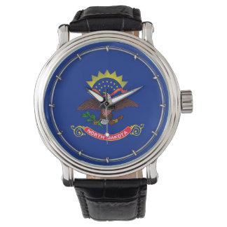 North Dakota State Flag Design Wristwatches