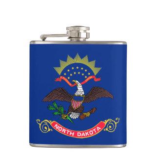 North Dakota State Flag Flasks