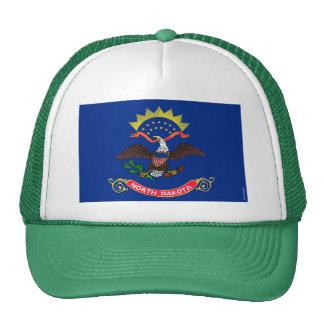 North Dakota State Flag Mesh Hats