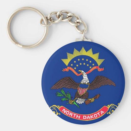 North Dakota State Flag Key Chain