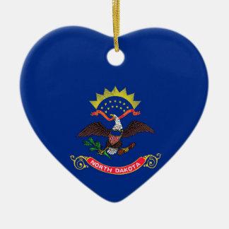 North Dakota State Flag Christmas Ornament