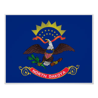 North Dakota State Flag Poster