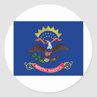 North Dakota State Flag Round Sticker