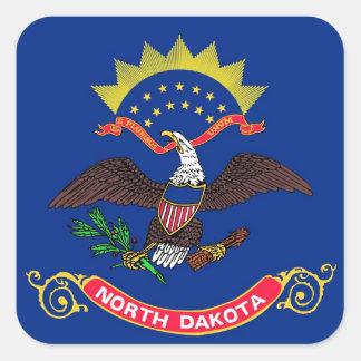 North Dakota State Flag Square Sticker