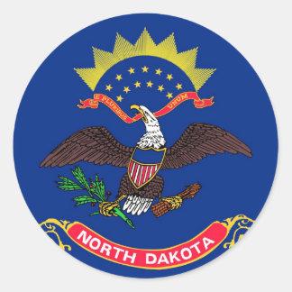 North Dakota State Flag Stickers