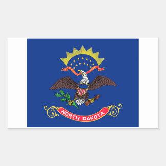 North Dakota State Flag Sticker - 4 per sheet
