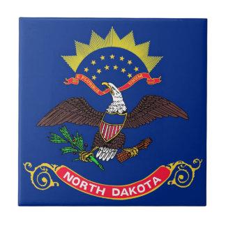 North Dakota State Flag Ceramic Tiles
