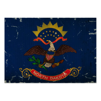 North Dakota State Flag VINTAGE. Business Card Templates