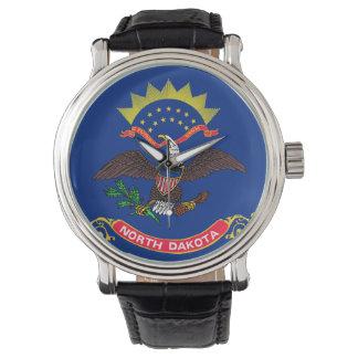 North Dakota State Flag Wrist Watch