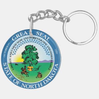 North Dakota state seal america republic symbol fl Double-Sided Round Acrylic Keychain