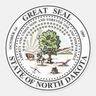 North Dakota State Seal Stickers
