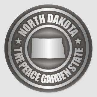 North Dakota Steel Classic Round Sticker