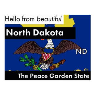 North Dakota The Peace Garden State Postcard