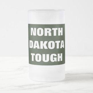 NORTH DAKOTA TOUGH FROSTED GLASS BEER MUG