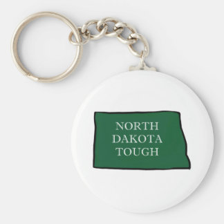 North Dakota Tough Keychain