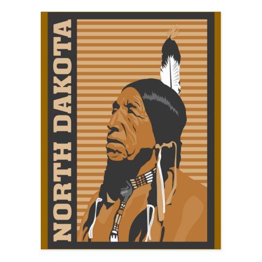 North Dakota Travel Design Postcard