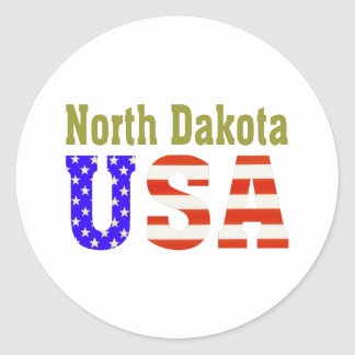 North Dakota USA Aashen alpha Classic Round Sticker