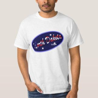 North Dakota USA flag colours  t-shirt