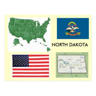 North Dakota USA Postcard