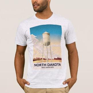 North Dakota Water Tower travel poster T-Shirt