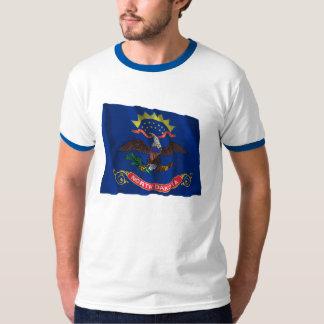 North Dakota Waving Flag T-Shirt