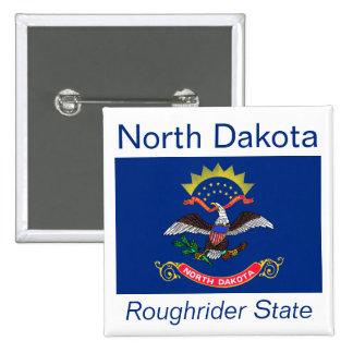 North Dakotan Flag Button