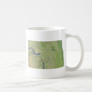 North Dakotan Flag + Map Mug