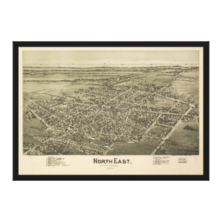 North East Erie County Pennsylvania (1896) Canvas Print