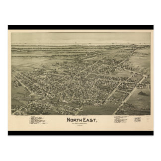 North East Erie County Pennsylvania (1896) Postcard