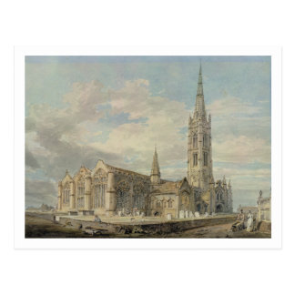 North-east View of Grantham Church, Lincolnshire, Postcard