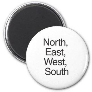North East West South ai Fridge Magnet