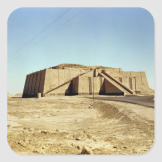 North-eastern facade of the ziggurat, c.2100 BC Square Sticker
