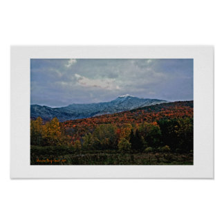 North face, Mt. Mansfield Poster