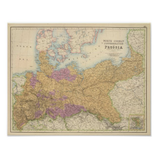 North German Confederation and Prussia Poster