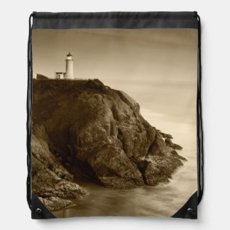 North Head Lighthouse | Fort Canby State Park, WA Drawstring Bag