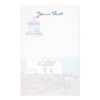 North Head Lighthouse Ilwaco, WA Watercolor Print Stationery