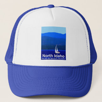 North Idaho Blue Trucker Hat