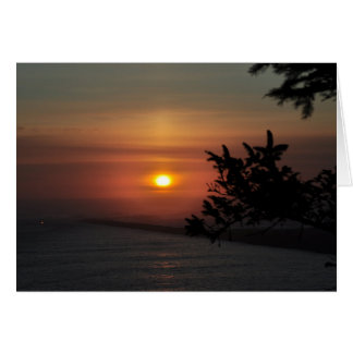 North Jetty at sunset Card