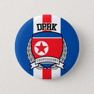 North Korea 2 Inch Round Button