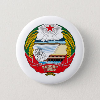 North Korea coat of arms 2 Inch Round Button
