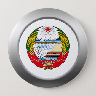 North Korea Coat of Arms 4 Inch Round Button