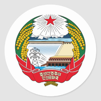 North Korea coat of arms Classic Round Sticker