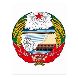 North Korea coat of arms Postcard