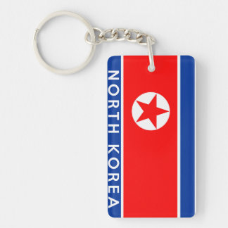 north korea country flag symbol name text keychain