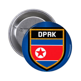 North Korea Flag 2 Inch Round Button