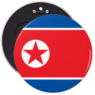 North Korea Flag 6 Inch Round Button